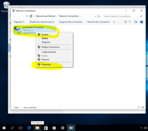 Windows 10 change IP Address