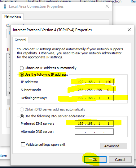 how to change my ip address windows 10